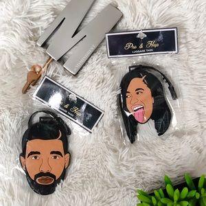 Cardi B & Drake luggage tags